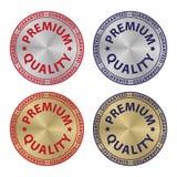 Gesetzte erstklassige Qualität garantiert Stockfoto