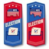 Gesetzte Fahne des Vektors für Abstimmung Stockbilder