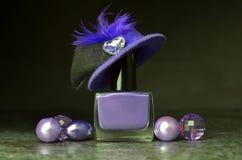 Gesetzte Farben des Nagellacks stockfotografie