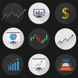 gesetzte flache Ikonenfinanzierung Lizenzfreies Stockfoto