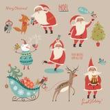 Gesetzte frohe Weihnachten und guten Rutsch ins Neue Jahr! vektor abbildung