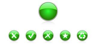 Gesetzte grüne Tasten Lizenzfreie Stockfotografie