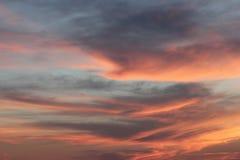 Gesetzte Himmel Sun Stockfoto