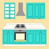 Gesetzte Ikone der Küche lizenzfreie abbildung