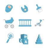 Gesetzte Ikone des Babys Stockbild