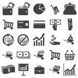 Gesetzte Ikone des Geldes Lizenzfreies Stockfoto