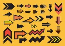 Gesetzte Ikone des Pfeildesigns stock abbildung