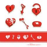 Gesetzte Ikone des Valentinsgrußes Lizenzfreie Stockfotografie