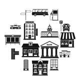 Gesetzte Ikonen der Infrastruktur vektor abbildung