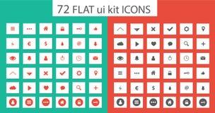 Gesetzte Ikonen flacher ui Ausrüstung für webdesign Stockfoto