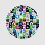 Gesetzte Illustration Apps Ikone vektor Lizenzfreies Stockbild