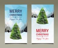 Gesetzte Karte des frohe Weihnacht-guten Rutsch ins Neue Jahr Lizenzfreie Stockfotografie
