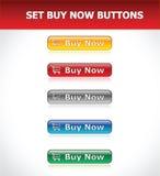 Gesetzte Kauf-jetzt Tasten Stockbilder