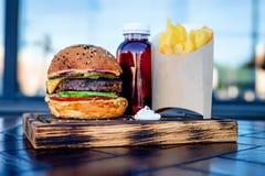 Gesetzte Konzeption des Fastfoods Lizenzfreies Stockfoto