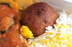 Gesetzte Mahlzeit des gesunden indischen Vegetariers Lizenzfreie Stockbilder