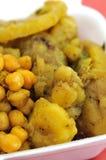 Gesetzte Mahlzeit des gesunden indischen Vegetariers Stockfoto