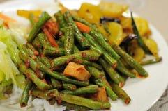 Gesetzte Mahlzeit des gesunden Vegetariers Lizenzfreies Stockbild