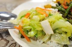 Gesetzte Mahlzeit des gesunden Vegetariers Stockfotos