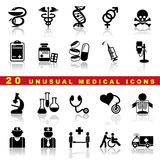 Gesetzte medizinische Ikonen Stockbilder