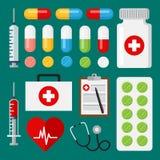Gesetzte medizinische Ikonen Stockfoto