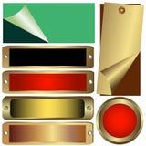 Gesetzte metallische Zählwerke Stockbild