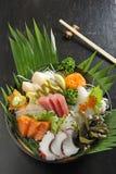 Gesetzte Mischung des Japan-Sashimis Lizenzfreie Stockfotografie