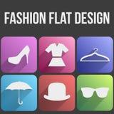 Gesetzte Mode der flachen Ikone für Netz und Anwendung. Lizenzfreie Stockfotos
