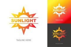 Gesetzte modische Steigungsart des Sonnenlichtlogos für Sommer Fest, eco Firma Lizenzfreies Stockbild