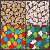 Gesetzte nahtlose Muster von abstrakten Steinen Lizenzfreie Stockbilder