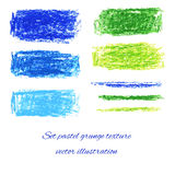 Gesetzte Pastellschmutzbeschaffenheiten. Vektorillustration ENV 10 lizenzfreie abbildung