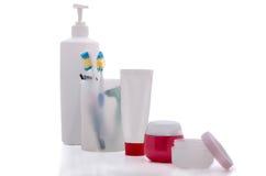 Gesetzte Produkte der persönlichen Hygiene Stockfoto