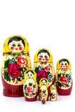 Gesetzte Puppe der russischen Familie Lizenzfreie Stockfotos