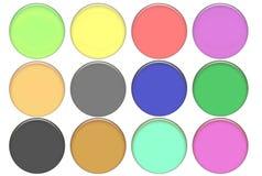 Gesetzte runde Farbenglastasten stock abbildung