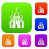 Gesetzte Sammlung des Kirchengebäudes Stockbild