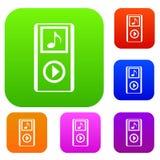 Gesetzte Sammlung des Mini-tragbaren Players MP3 Stockfotografie