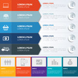 Gesetzte Schablonen Infographics Lizenzfreies Stockbild