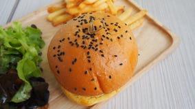 Gesetzte Schnellimbisse des Hamburgers Stockfoto