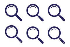 Gesetzte Suchsymbolveränderung auf flacher Artillustration für Netz, Mobile, Anwendung und Grafikdesign vector einfaches Zeichen  stock abbildung