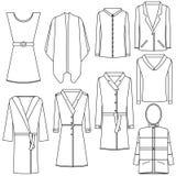 Gesetzte transparente Entwurfsfraukleidung Stockfotografie