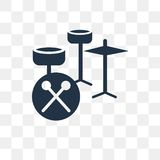 Gesetzte Vektorikone der Trommel lokalisiert auf transparentem Hintergrund, Trommelse lizenzfreie abbildung