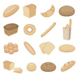 Gesetzte Vektorikonen des Brotes für Netz und Mobile Lizenzfreie Stockfotografie