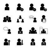 Gesetzte Vektorillustration der Benutzermanagementikone Lizenzfreies Stockfoto