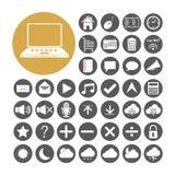 Gesetzte Vektorillustration der Computer-Ikone Lizenzfreie Stockfotografie