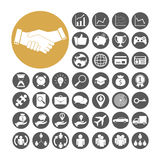 Gesetzte Vektorillustration der Geschäfts-Ikone Lizenzfreie Stockbilder