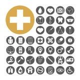 Gesetzte Vektorillustration der medizinischen Ikone Stockbilder