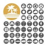 Gesetzte Vektorillustration der Sommer-Ikone Stockbild