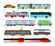 Gesetzte Vektorillustration des Stadttransportes Lizenzfreies Stockbild