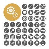 Gesetzte Vektorillustration Ingenieur-Icon Stockbilder