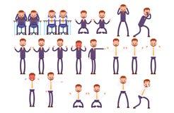 Gesetzte wütende Gefühle, Frustration, Ärger Unternehmen Stockbilder