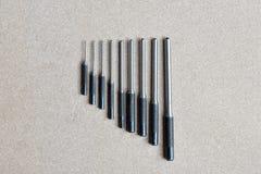 Gesetzte Werkzeuge des Spannhülsedurchschlags für entfernen Stift oder Klinke jedes möglichen Mechanikers stockbilder